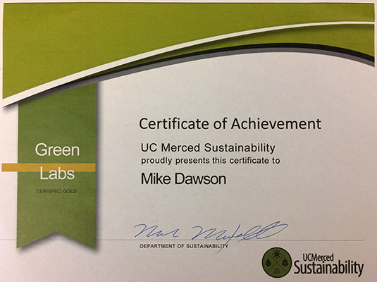 Green Labs Certificate