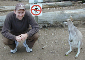 Keith and wallaby